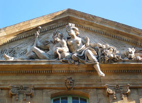 Photograph of the ornate architecture of Aix